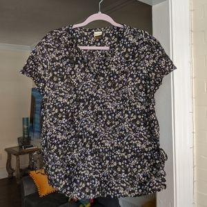 Sonoma Floral Button Up Blouse
